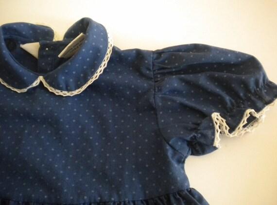 Girls Size 4T Vintage Blue Dress.