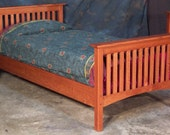 Quartersawn Oak Mission Style Bed