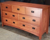7 drawer Mission Style Quartersawn Oak Chest of Drawers / Dresser