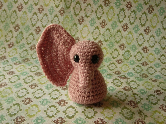 pink crocheted hellephant