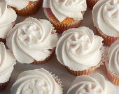 """Food Photography """"White Cupcakes""""  5x5 Photograph - Kitchen Dining Cafe Decor minimal print - Hostess Gift"""