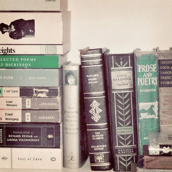 Photography, Still Life, Book Photograph, Minimal, Retro, Pastel, Pink, Mint, Modern, Library, Vintage Books