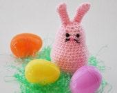 Pink Crochet Easter Bunny Rabbit