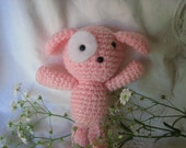 Baby Pink Crochet Puppy for Baby girls Nursery-soft pink pastel