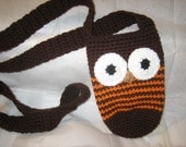 Autumn, Fall and Thanksgiving Earth Tone Crochet Owl Bottle holder/ catchall