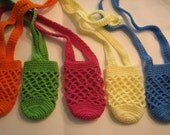 Set of 3 Crocheted water bottle holders - Valentines day - Easter basket gifts