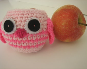 Pink Owl Apple Cozy- Spring/Easter- fill with goodies - teachers and secretary's - Back to School