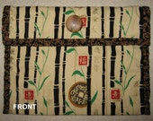 Quilted Soft Pouch Chinese Style Fabric for Make-up Odds and Ends etc