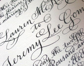 "Calligraphy Wedding Invitations Love No. 19 ""The Savoy"""