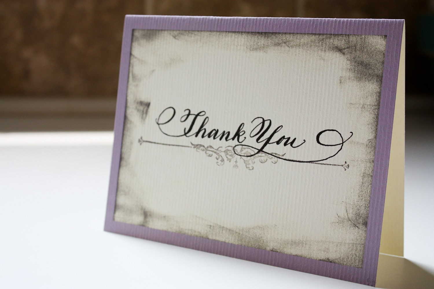 Calligraphy Vintage Thank You Card Set Of By
