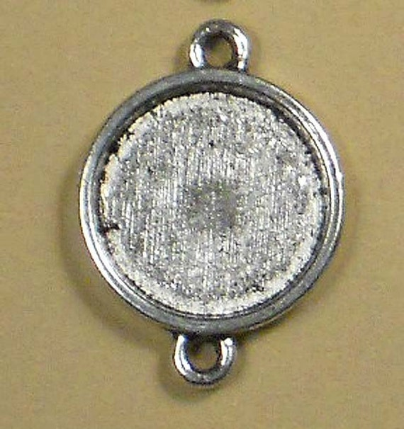 8 Silver Blanks Bezel Cup Tray Coin Link Settings (P182)