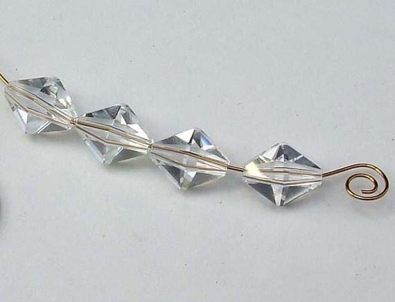 6 Unusual Swarovski Polygon Crystal Beads Art 5125 Big 1.4mm Hole (6012 -6)