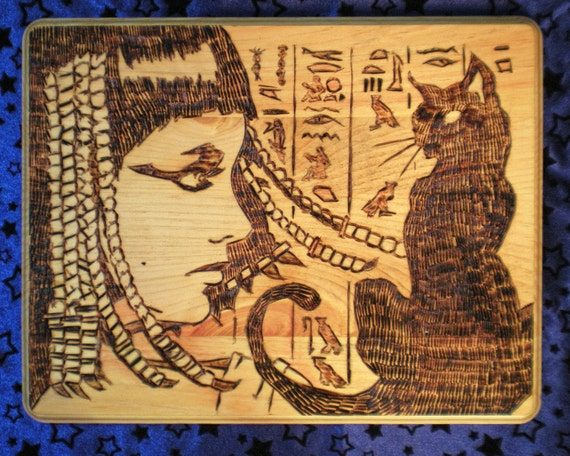 Cleopatra with Feline Companion
