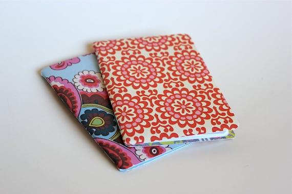 Set of 2 Pink Wallflower and Paisley Print Mini Journal Notebooks - Black Friday Sale