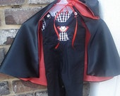 Edward Reversible Halloween Longall with Vampire Cape