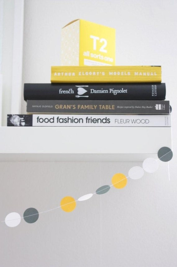 """Garland - """"Classic"""" - Charcoal, light grey, yellow and white"""