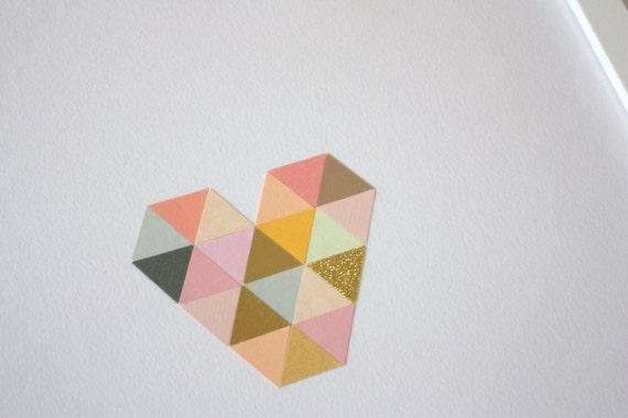 Square Heart -  30x40cm