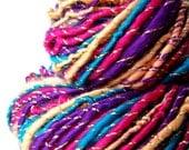 Hand Spun Art Yarn - PADMINI - 117 yards - 5.46oz