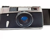 Retro Camera Black and Silver Gadget Case -Fits iPhone iTouch and more