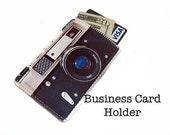Mini Retro Camera Business Card Gadget Case - Fits Credit and Debit Cards Too