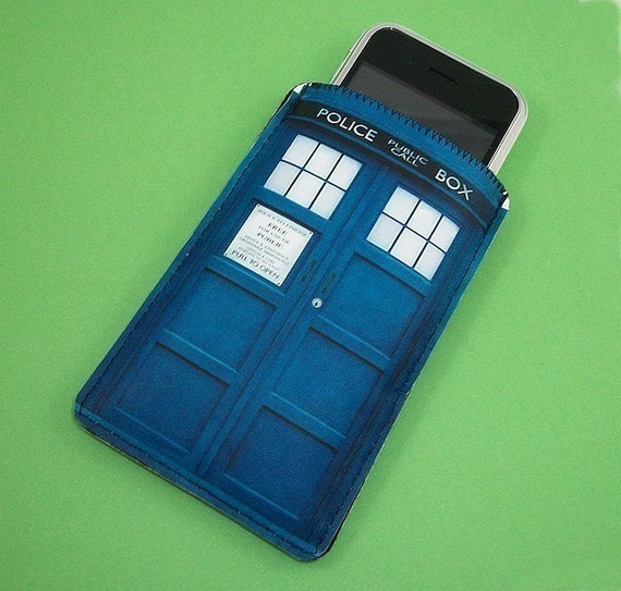 iPhone British Blue Police Phone Booth  - Smart Phone, Mp3 Case