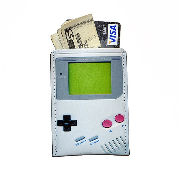 Video Game Retro Hand Held Business Case Debit, Credit, Gift Card Sleeve
