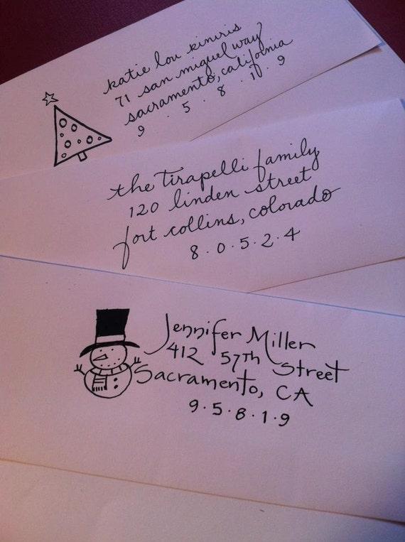 Self Inking Return Address Stamp Hand Lettered