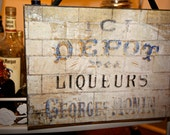 French Liqueurs Sign by Barloga Studios