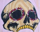 Painting on Wood - Dia de los Muertos Retablo