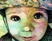 Extreme Closeup Child's Portrait PRINT