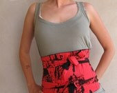 Corset Belt Obi Inspired Red And Black last one
