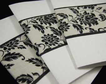 Set of 3 Blank Fabric Notecards - LaST SET -