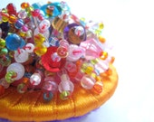 Free Shipping - Beaded Brooch - Cornucopia