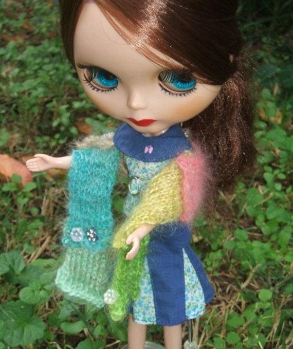 Blythe Handspun Knit Scarf Soft Breezes