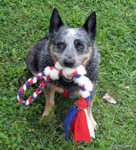 Dog Tug Toy Agility: Real Sheepskin/fleece Dog Tug Toy
