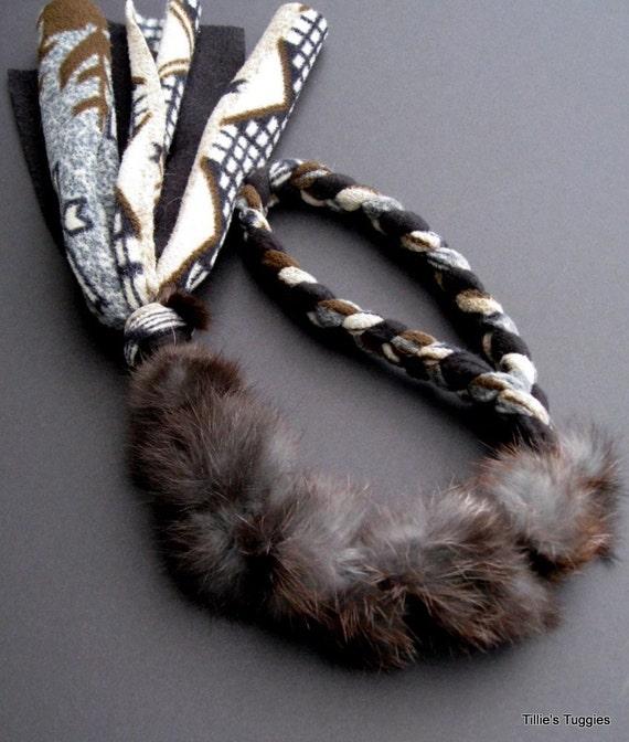 Dog Tug Toy Agility: Real Rabbit Fur/fleece Dog Tug Toy By TilliesTuggies On Etsy