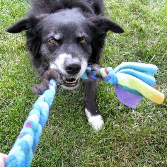 Dog Tug Toy Agility: Real Rabbit Fur/fleece Dog Tug Toy