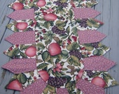 Apple Fruit Large Quilted Table Runner  Petal Centerpiece