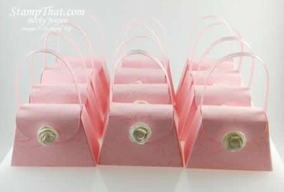 12 Pink Purse Party Favors