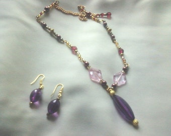 Regal Reflections necklace and earrings set