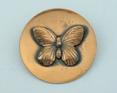 Mid Century Modern Copper Butterfly BROOCH