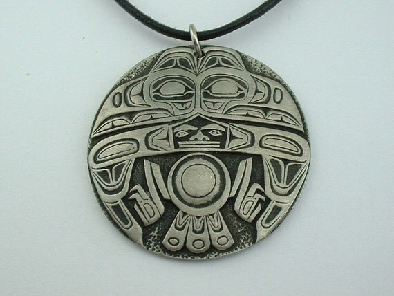 northwest art design canada pewter tlingit style raven