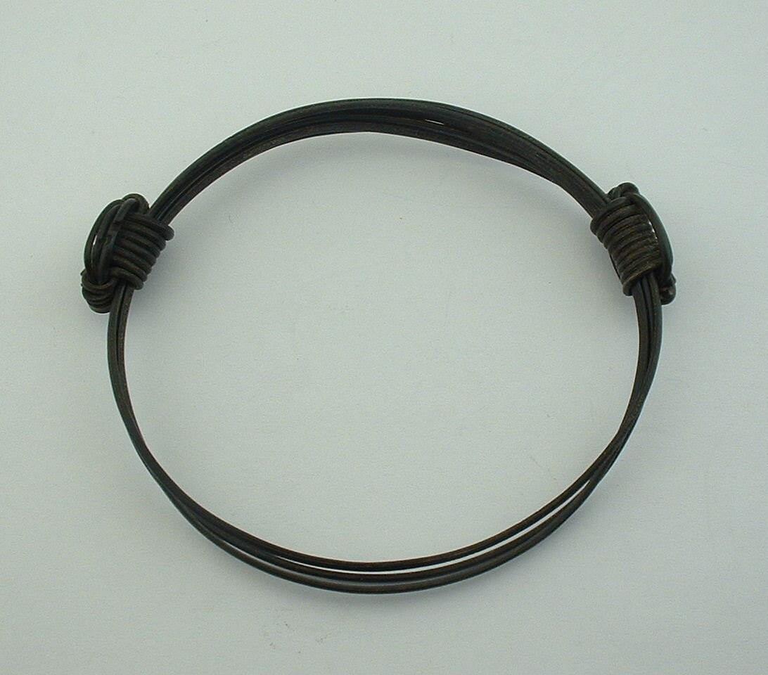Vintage Adjustable Elephant Hair Bracelet African Circa