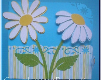 PRA Spring Daisies Accent SVG file - Ideal for Scrapbooking, Card making, 3D Projects - PR