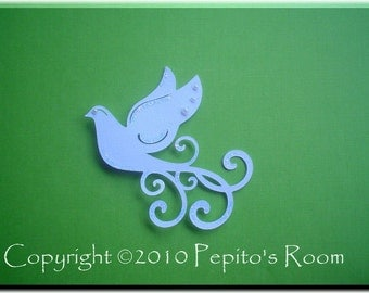 PRA Whimsical Dove Accent SVG File - Scrapbooking, Card making, 3D Projects - PR
