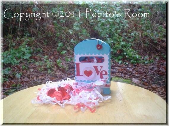 PRB13 Pull and Go Box Template SVG / Printable PDF Outline - Mailbox Valentine, Christmas