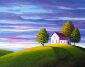 House on the Hill - Art Print by DL Taylor