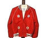 Vintage Baseball Jacket, Peewee Weather Tamer Athletic Coat