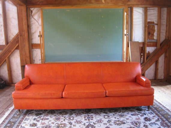 Sale Large Midcentury Modern Burnt Orange Atomic Eames Era