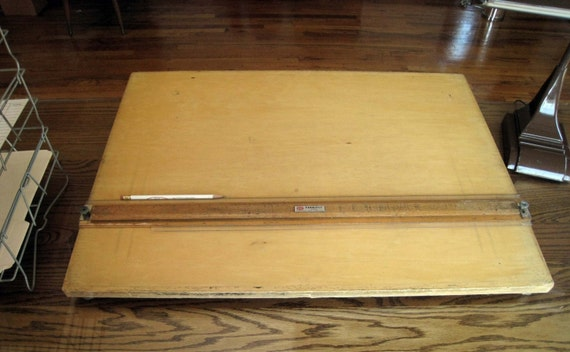 Vintage Frederick Post Co Paratilt Portable Drafting Drawing Board Top Machine Age